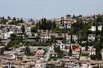 View of the city of Granada from the Alhambra