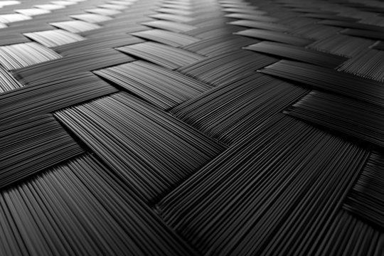 3D Illustration Carbon Nahaufnahme