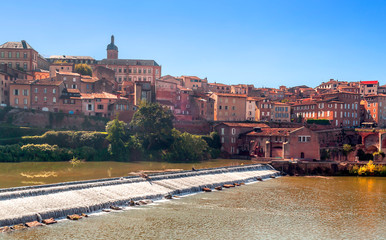 Albi in France on a sunny day