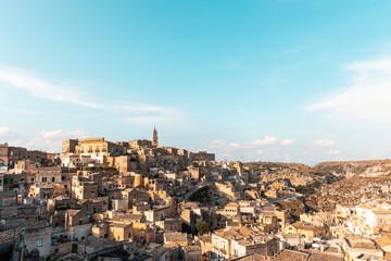 Italy, Basilicata, Matera, Townscape and historical cave dwelling, Sassi di Matera