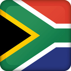 Icon representing square button flag of South Africa. Ideal for catalogs of institutional materials and geography