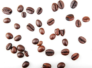 Wall Mural - Coffee Beans Isolated On White Background