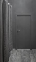 black abstract door in the black room