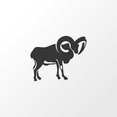 Ovis icon symbol. Premium quality isolated ram element in trendy style.