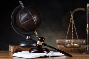 Globe, Law and justice concept