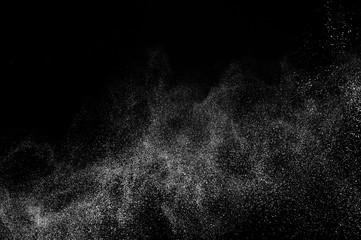 white powder splash for makeup artist or graphic design