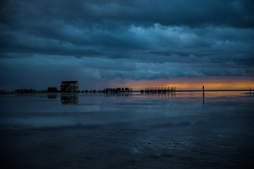 St. Peter-Ording Sonnenuntergang am Strand