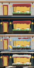restaurant set vector illustration