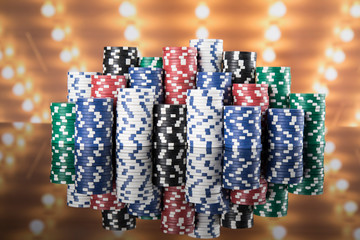 Casino background and Poker Chips
