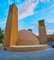 The landmarks of old Yazd, Iran