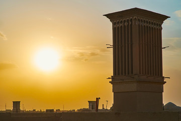 Sunset in old Yazd, Iran