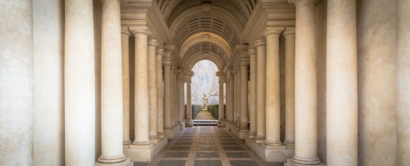 Luxury palace with marble columns in Rome Wall mural