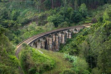 The Nine Arches Bridge on Sri Lanka