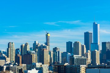 Chicago Skyline Scene