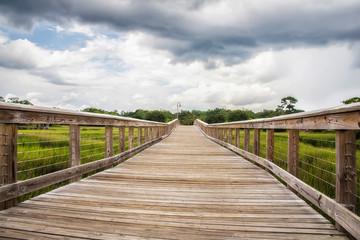 boardwalk at Shem Creek in Mount Pleasant South Carolina