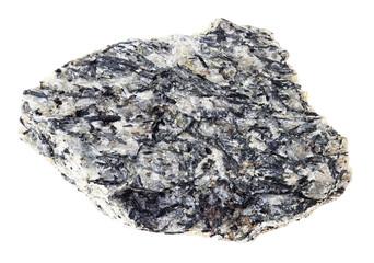 raw lujaurite (lujavrite) stone on white