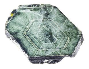 raw Phlogopite mica stone on white