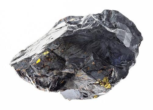 raw sphalerite (zinc blende) stone on white