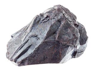 raw hematite stone (iron ore) on white