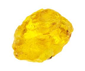 raw brimstone (sulfur, sulphur stone) on white