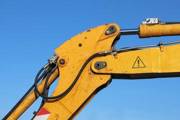 detail of a mechanical digger