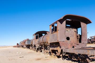 Cemetery trains Uyuni, Bolivia