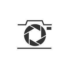 Photography camera graphic icon design template