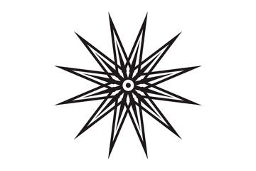 Abstract sun vector, geometric design, star design