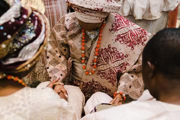 Priest performing wedding ceremony