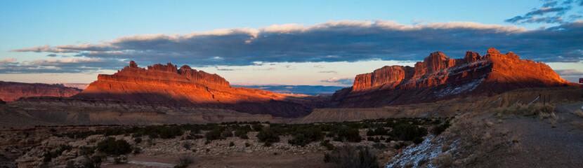 Black Dragon Canyon in Utah at sunset.
