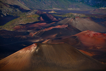 Details of color in Haleakala Crater, Haleakala National Park, Maui, Hawaii