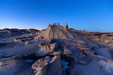 Bisti De-Na-Zin Wilderness Area, New Mexico: Hoodoos and egg like structures in an area aptly named the egg garden.