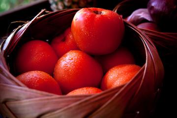 KAUAI, HAWAII: Fruit stand in Moloa?a.