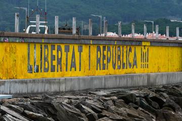 Freedom and Republic stencil Catalonia