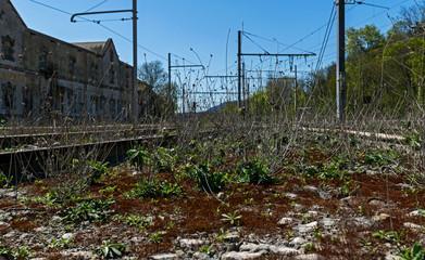 Vieille gare abandonnée