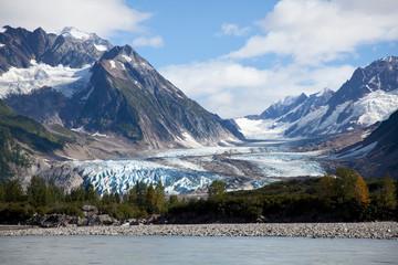 Tashenshini River in Yukon, CA, which empties into Glacier Bay National Park in Alaska, US.