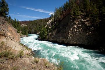 Scenic image of the Chilko River. British Columbia, Canada.