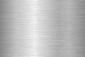 Brushed metal texture. Steel background. Vector illustration. Wall mural