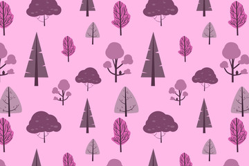 Pink stylish digital geometric background with different shapes.
