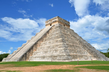 The Pyramid of Kukulkan at Chichen Itza in Mexico, one of the New Seven Wonders of the World.