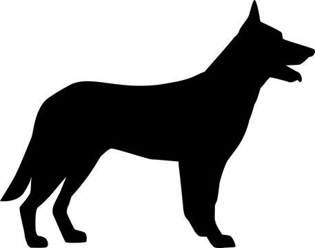 German Shepherd silhouette black