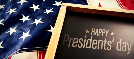 Composite image of happy presidents day