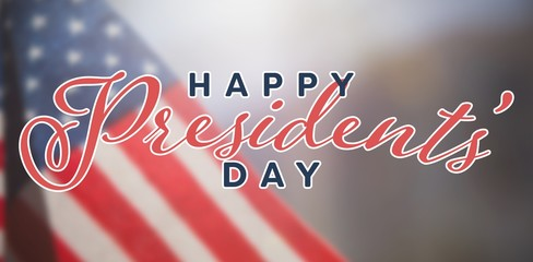 Composite image of happy presidents day. vector typography