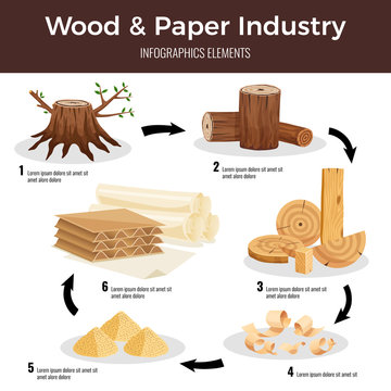 Wood Paper Industry Infographics