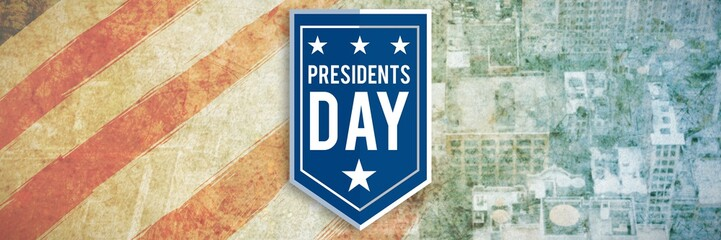 Composite image of presidents day icon