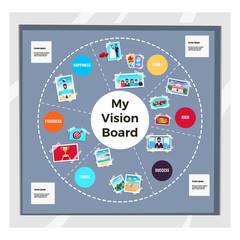 Dreams Vision Board Infographic Set