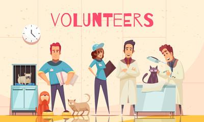 Volunteers Flat Poster