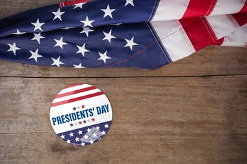 Composite image of presidents day. vector typography, stars