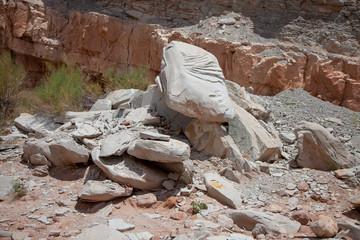 Sandstone Rock Fall, Utah