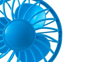 Blue fan on a white background